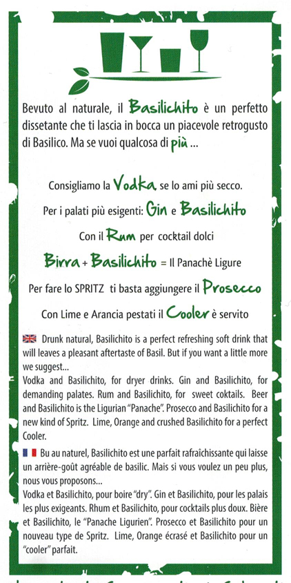 I cocktail proposti sul flyer del Basilichito